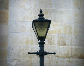 Lamp post, Fournier Street in London  Fine Art Photograph 5 x 5 inches limited edition print