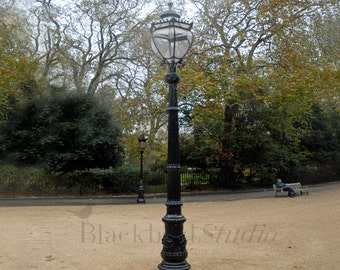 Lamp post, Bedford Square in London  Fine Art Photograph limited edition print