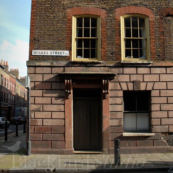Georgian House in Wilkes Street, London  Fine Art Photograph 5 x 5 inches limited edition print