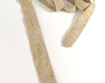 """On Sale: Mens tie, handmade in 100% Wool. Skinny, square end cut. """"MB"""" design."""