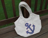 Appliqued Purse - nautica design
