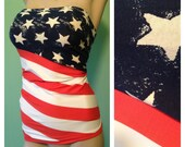 Sexy American flag designers Tub top, Shirt sleeveless