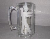 """Etched """"I Love Zombies"""" Beer Mug - Zombie Beer Stein, Zombie Gifts"""