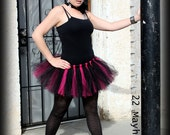 Adult Basic Tutu Mini Tulle Skirt Custom Created You Choose Colors Size XS-MED