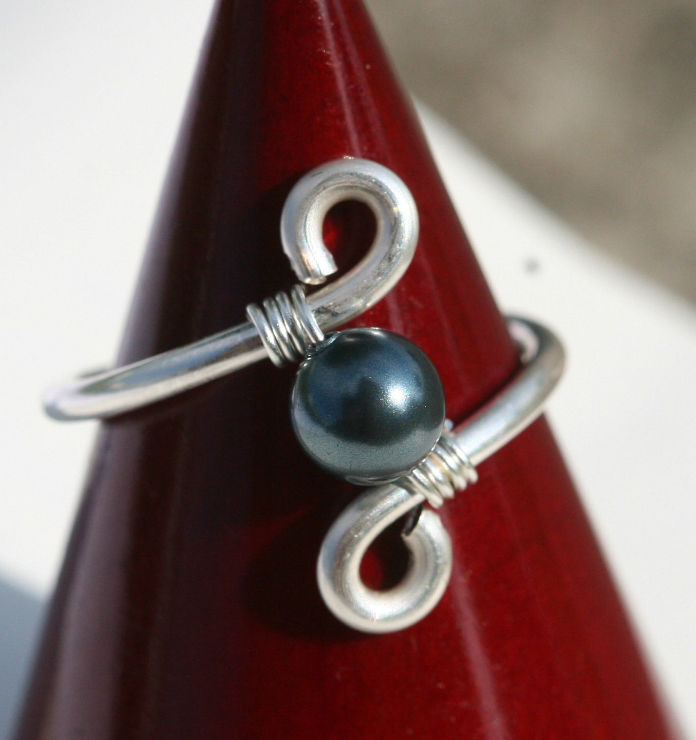 tahitian pearl ring wire wrapped jewelry by jessicaluujewelry