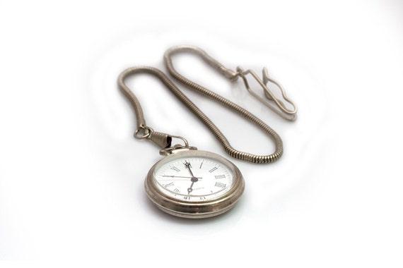 Gentlemens pocket watch, silver pocket watch