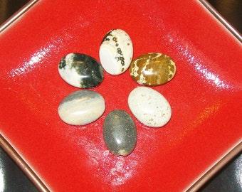 6 Jasper Stones for Pendants