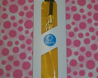 7 inch Polyester All-Purpose Zipper 182 Spark Gold Zipper