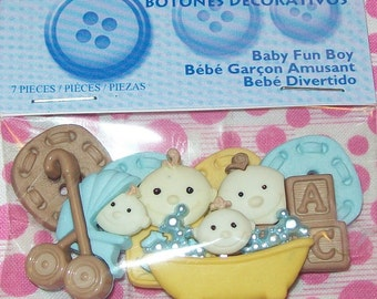 Baby Fun Boy Buttons