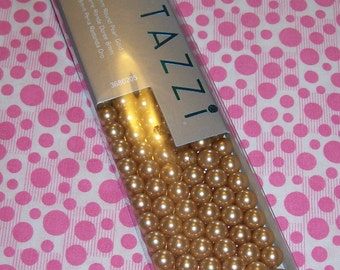 Crystazzi 120 count 8mm Round Pearl Gold