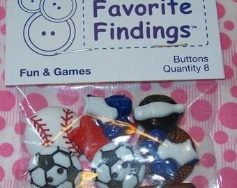 Sports Buttons, Sports Ball Buttons, Ball Buttons