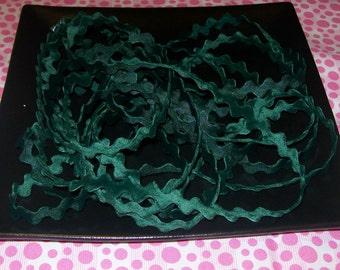 Green Velvety Trim