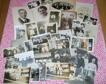 Vintage Photos Paper Ephemera - Family