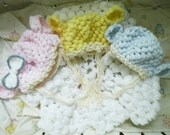 Choose Color Baby Boy or Girl Lamb Hat Handmade - crocheted knit knitwear newborn clothing soft cute bonnet