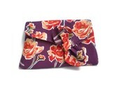 Vintage Inspired Clutch Bag 1930's Clutch Purple Orange Flowers Roses Purse Bag 1930s Style