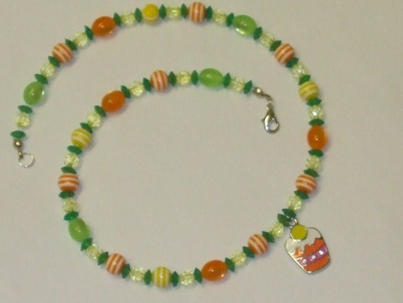 Orange, Lemon, & Lime Citrus Cupcake Necklace