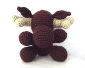 Crochet Moose Pattern Crochet Pattern Woodland Moose Toy Stuffed Animal Crochet Amigurumi Moose Whimsical Childrens Toy Instant Download
