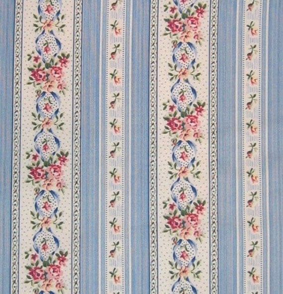 Laura Ashley English Country Floral Stripe