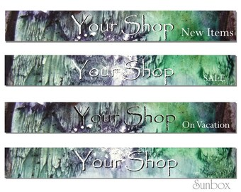 Your Shop Banner. Moss Green, Grey.