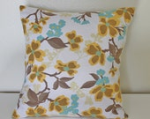 INVENTORY SALE   ---  18 x 18 inch pillow cover- Dogwood Bloom in Harvest