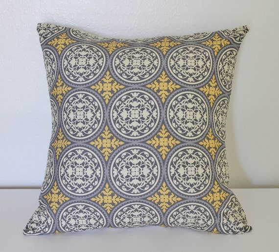 INVENTORY SALE  ---  18 x 18 inch pillow cover- Ironwork in Granite
