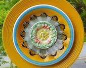 Glass Garden Flower -Sunny Delight Yellow and orange