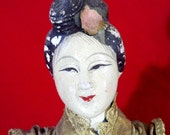 "Antique Asian Japanese Geisha Kimono Fashion Doll from Japan (stands 11.5"" tall)"