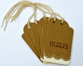 Wedding Favor Gift Tags With Lace Trim - Set of 25