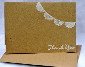 Wedding Thank You Cards Set With Bunting