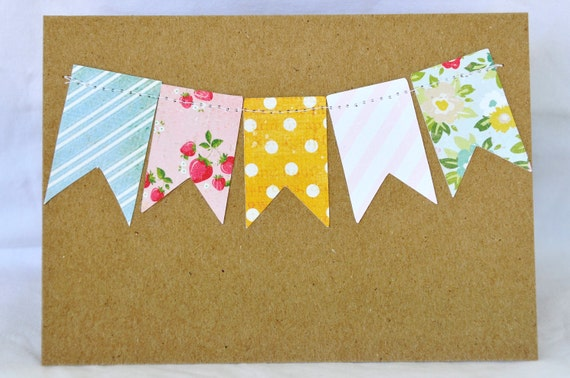 Stationery Cards with Bunting