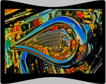 Indian Motorcycle - Fine Art Photograph Print Picture on Dye Infused Aluminum