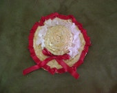 Vintage Decorated Straw Hat