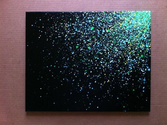 "16""x20""  Paint Splatter Canvas."