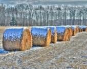 High Dynamic Range Hay Photograph 16X24