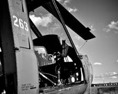Abandoned UH-1 16X24 Black and White Photograph
