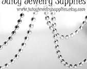 1000 Shiny Silver Plated Ball Chain Necklaces