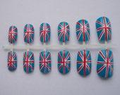 Union Jack Flag fake false nails