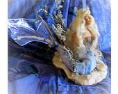 Sculpture Blue Mermaid