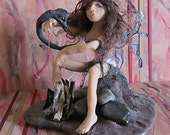 Sculpture Faerie Fantasy Art Doll Goth Renaissance