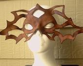 Leather Mask Cutwork Sculpture Wearable Art Renaissance Leather Art