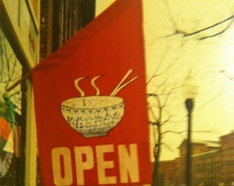"Chinese Noodle Bowl  ""Open"" Flag"