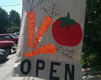 Open-- Flag With Veggies
