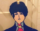 60's Beatles Yellow Submarine character coathanger set.