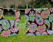 Burp Cloth and Bib Set Paisley