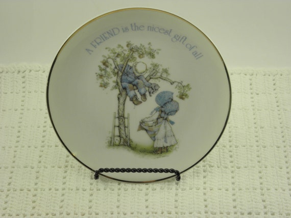 Reserved for Hound dog  Plate Holly Hobbie 1978 Lasting Memories
