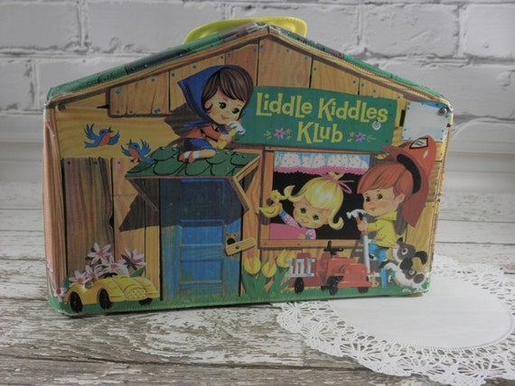 Liddle Kiddles Klub play house 1966 Clubhouse Original Childrens doll vinyl cabin treehouse case