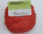 Orange - Grignasco Bioline 28 - ECO Cotton - 140m/50gr - organic cotton yarn