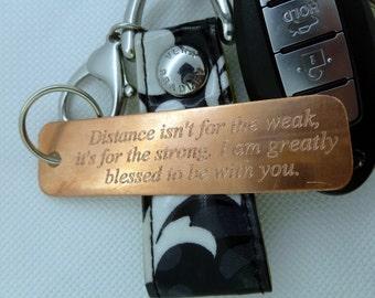 Personalized Keychain - Engraved Copper Keychain - Personalized-  Boyfriend Gift, Husband gift, Husband, boyfriend, Anniversary
