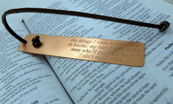 Personalized Bookmark - Engraved Copper Bookmark - Personalized