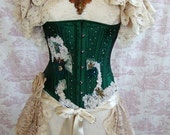 Steampunk Bustle Romantic Victoriana  OPHELIA Vintage Lace GOTHIC Wedding By Ophelias Folly